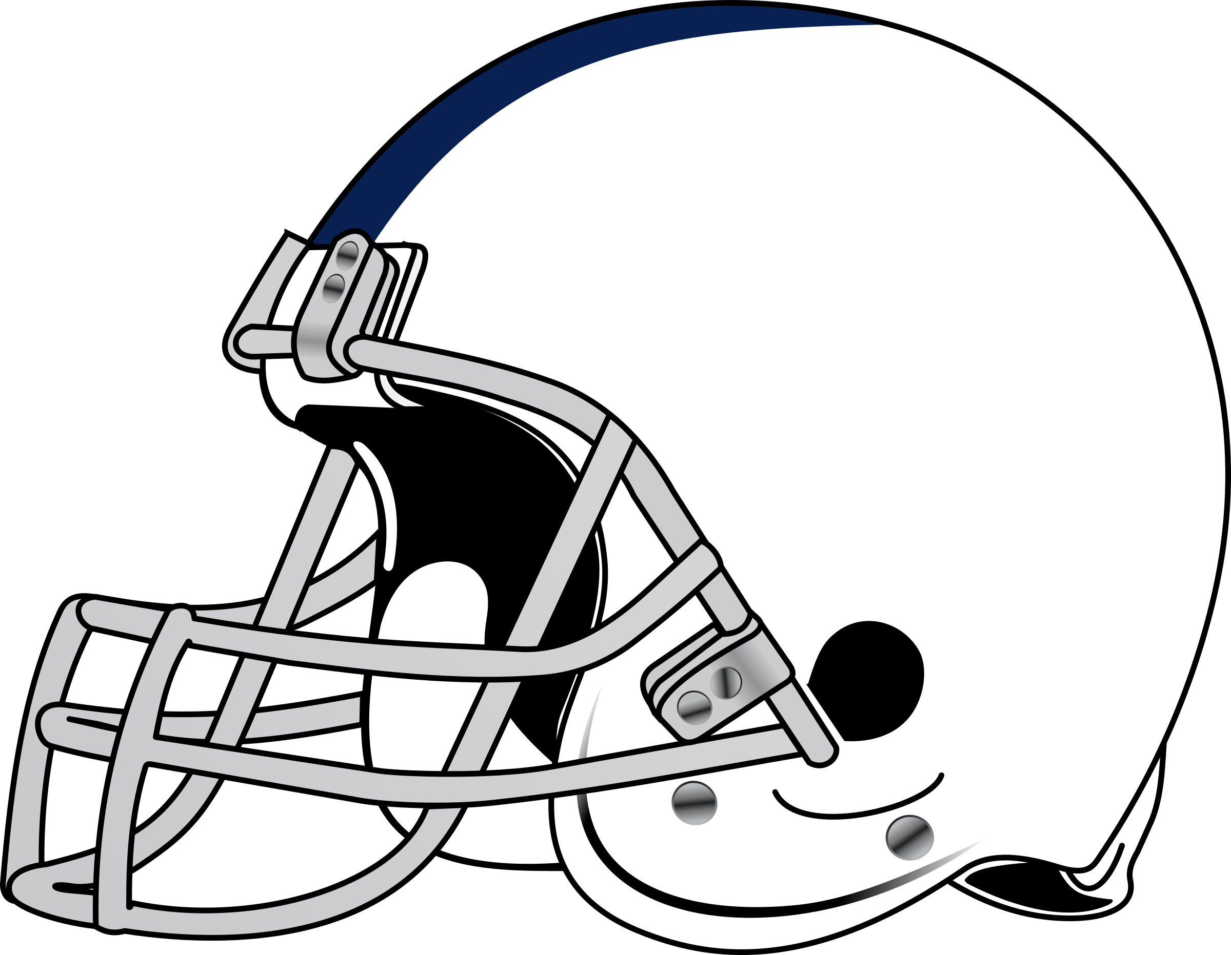 Football helmet clip art free clipart image