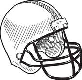 Football · Football helmet sketch
