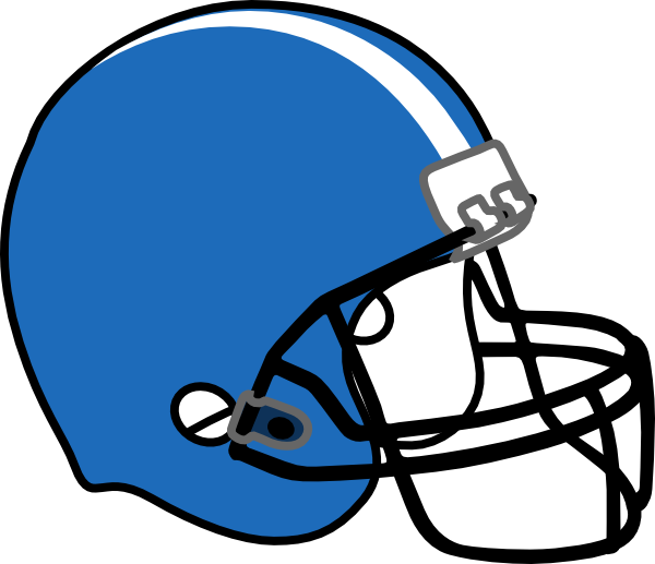 Glitter Football Helmet Clipart #1