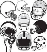 Graphic outline of football helmet · Football Helmet Collection