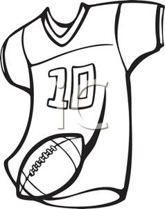 Football Jersey And Football Royalty Free Clipart Picture