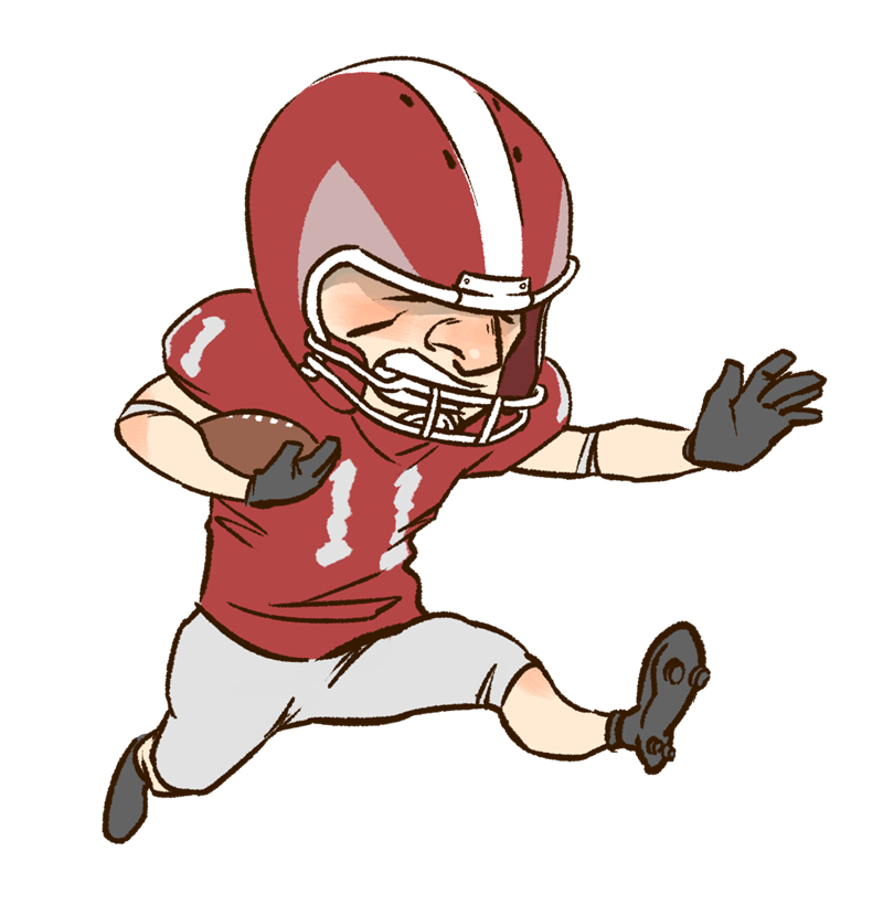 American football player clipart kid