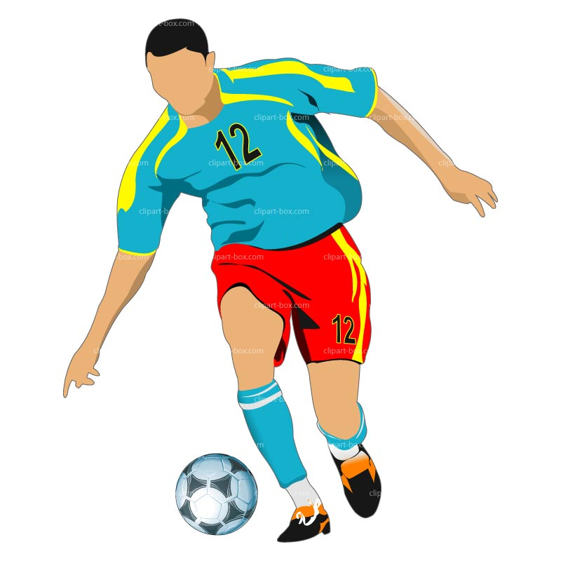 Clipart football player
