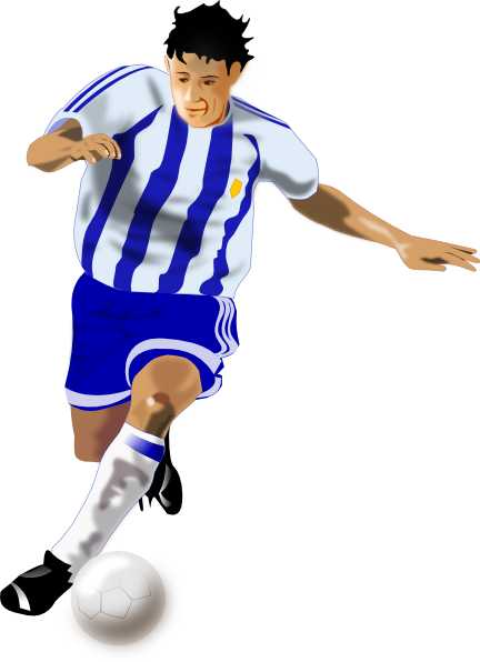 Football Player Clipart this image as: