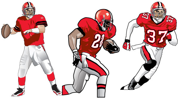 Drawings Of Football Players - Clipart library