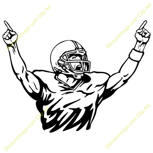 Football Player Clip Art