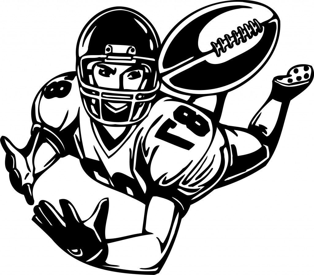 football player clipart