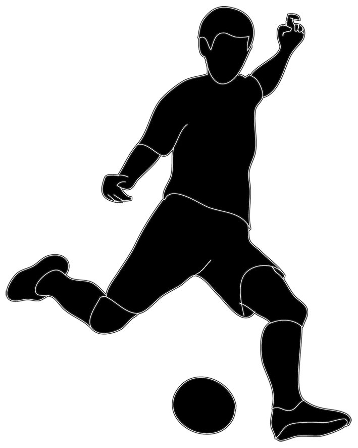 Football player clipart 2 football clip art black image 2