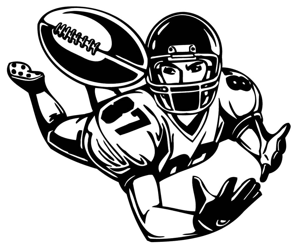 Football Player Clipart #20911