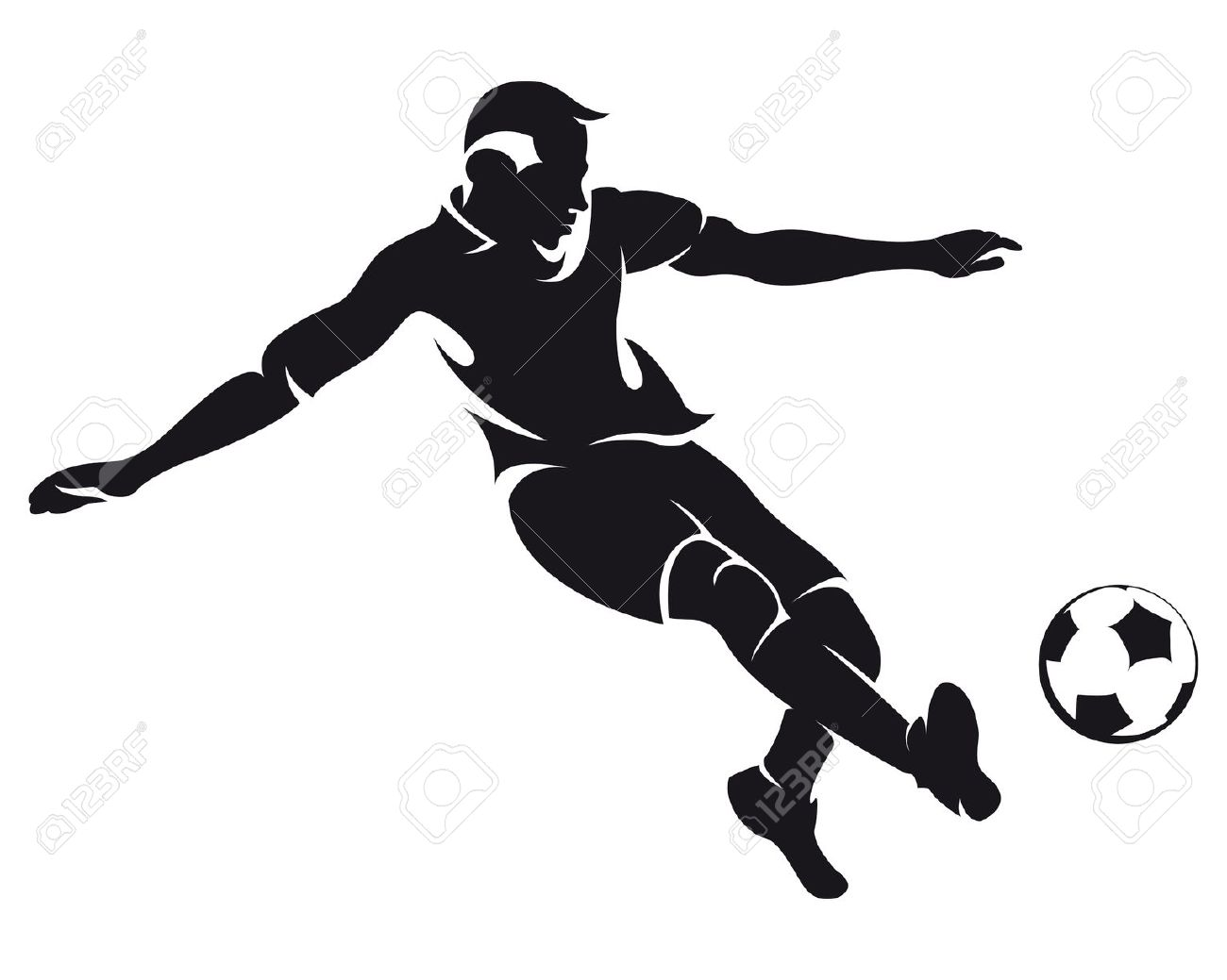 Football Player Clipart Black And White #21026