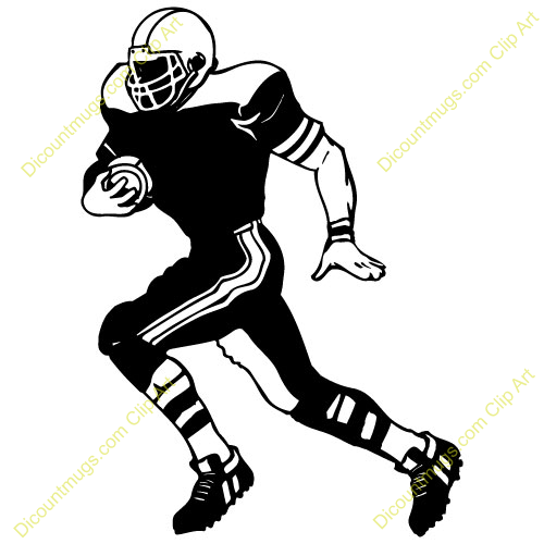 football player running clipart