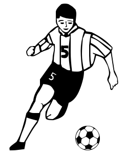 Football players clipart images