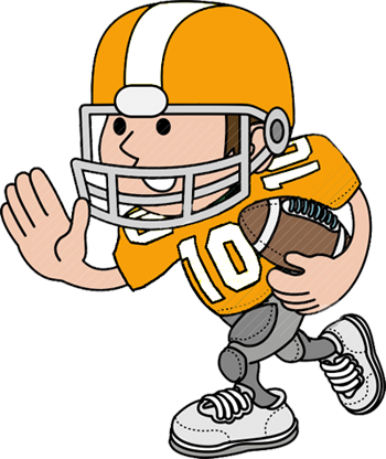 Mean football player clipart free images
