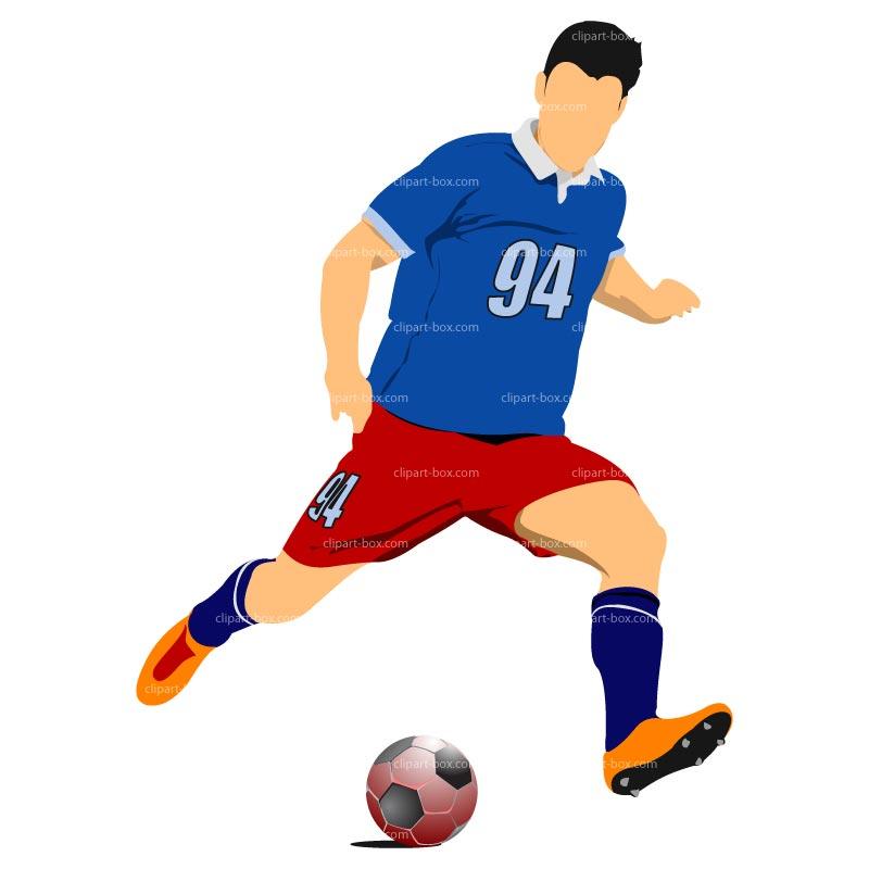 footballer clipart 3