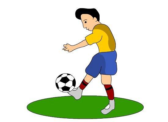 footballer clipart