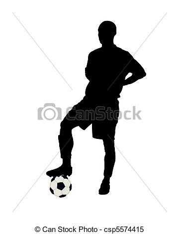 Footballer - csp5574415