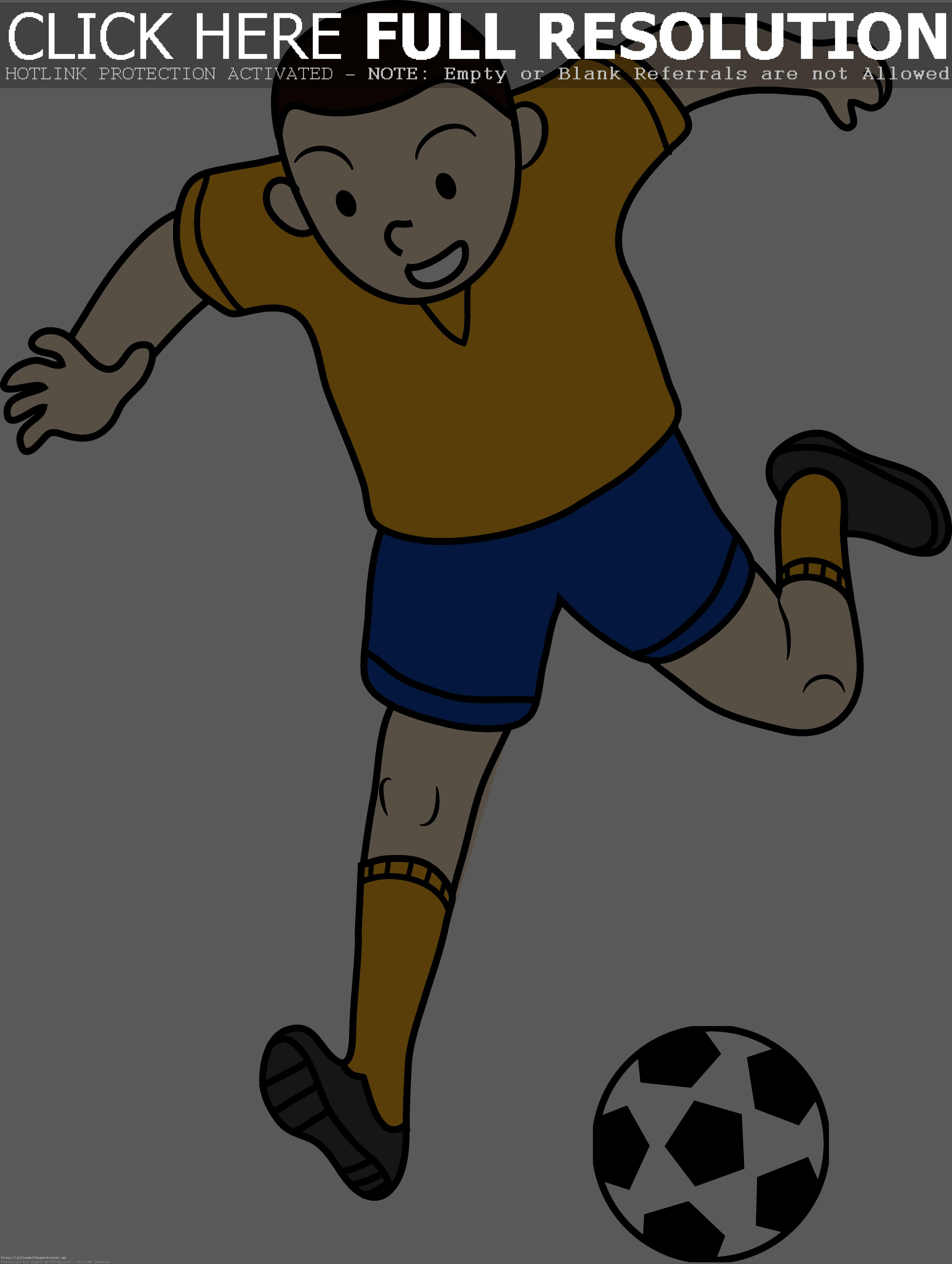 Kid Playing Soccer Or Football Free Clip Art Brilliant Png