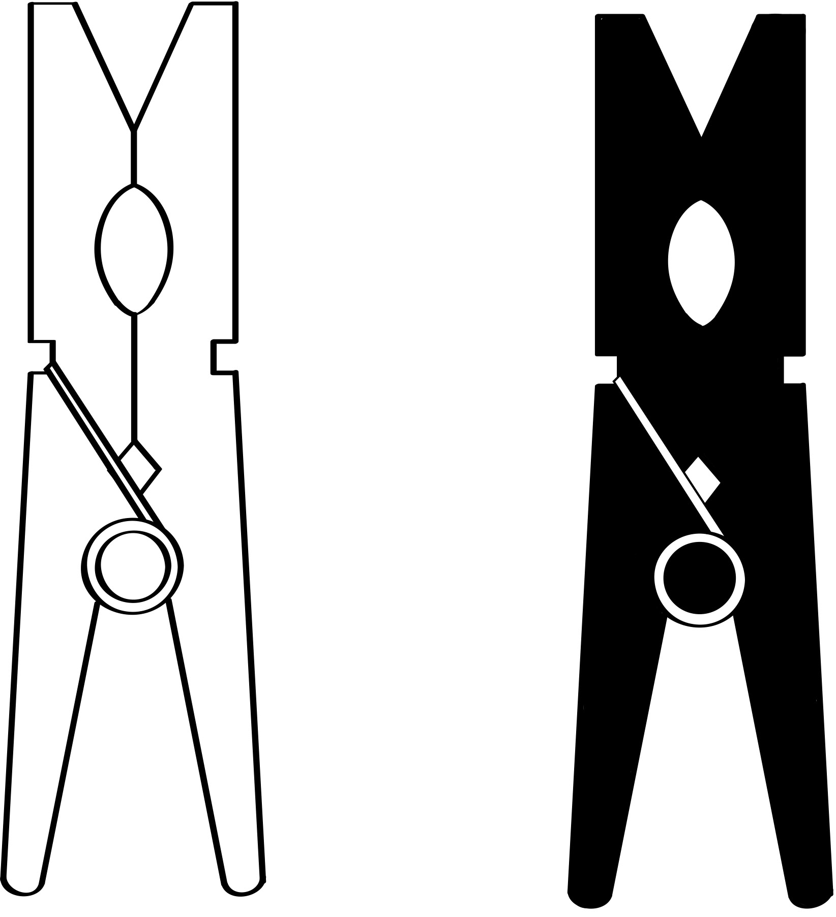For Clothespin Clipart