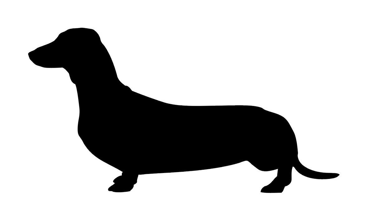 for dachshund silhouette .