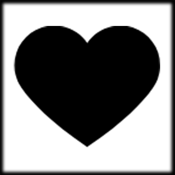 For u0026gt; Black Heart Clipart