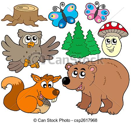 ... Forest animals collection 3 - isolated illustration.