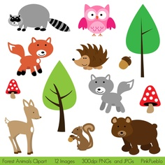 Forest Animals On Pinterest Clip Art Woodland Animals And Vector