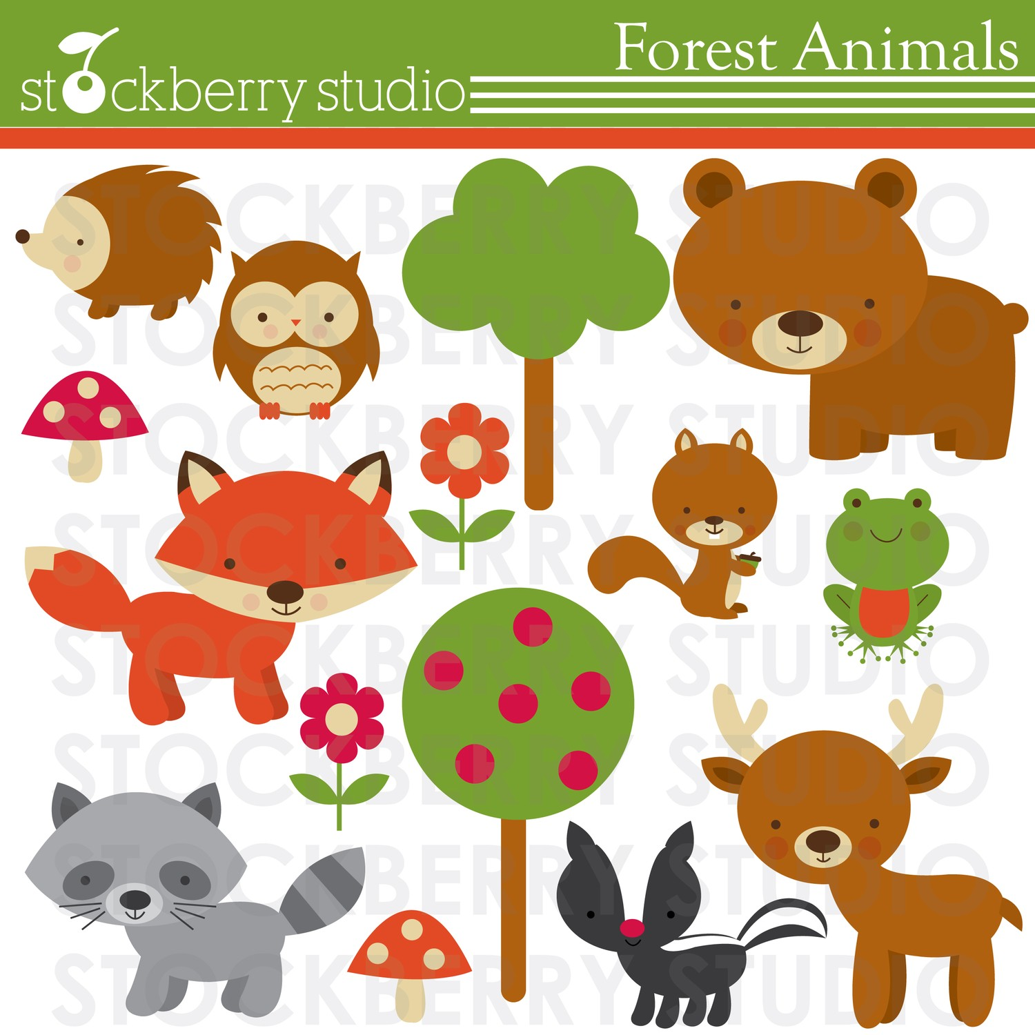 Forest Animals Personal And Commerical Use By Stockberrystudio