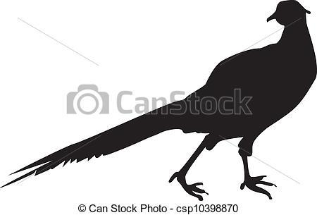 Forest pheasant Clipartby derocz7/1,857; Pheasant Sillhouette - A silhouette of a pheasant, a bird.