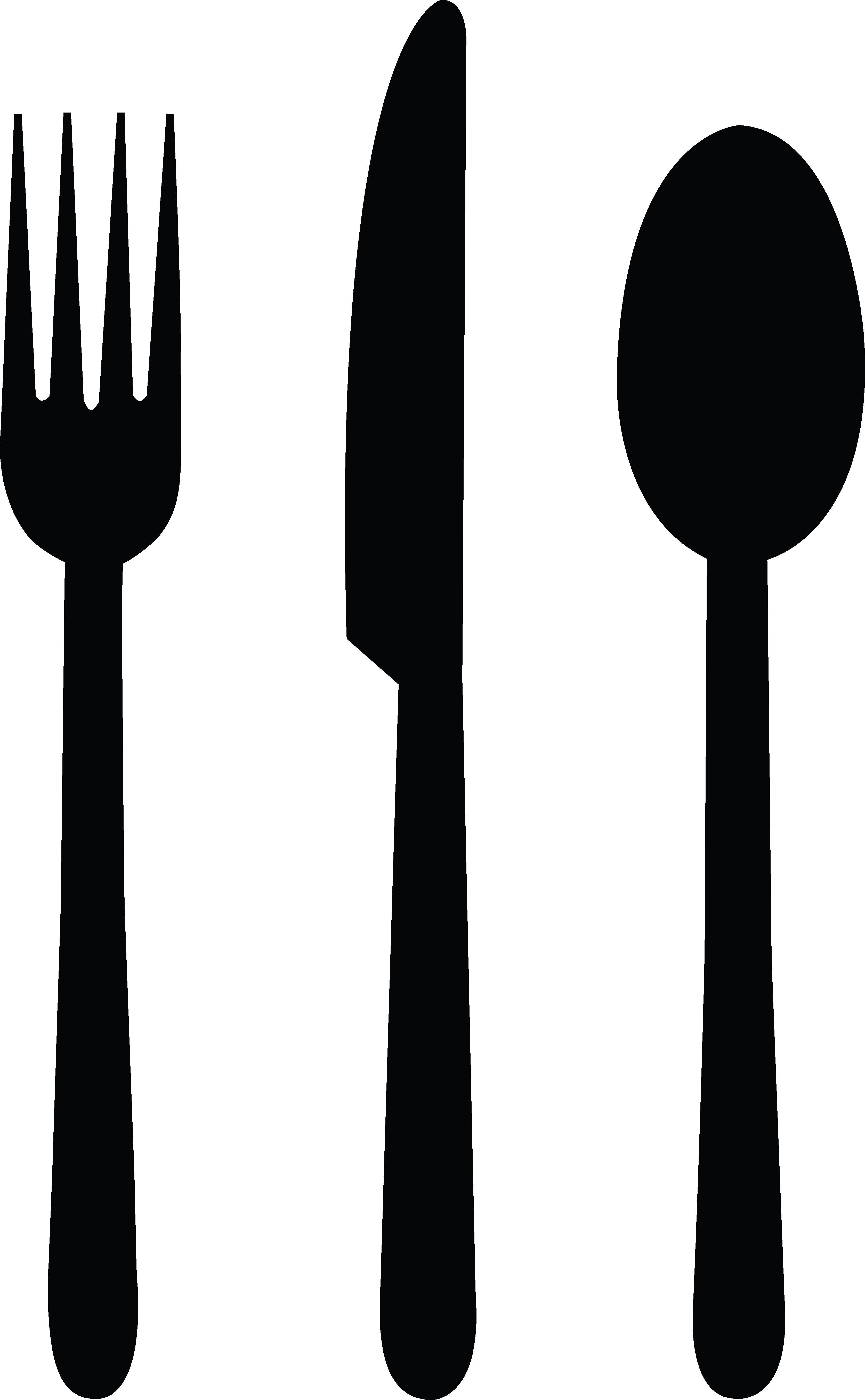 fork clipart black and white