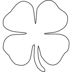 four leaf clover vector clip .