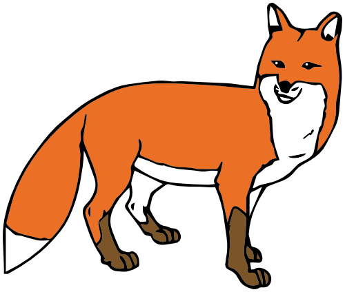 fox clipart. Available formats to download: