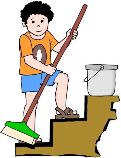 free clip art children chores