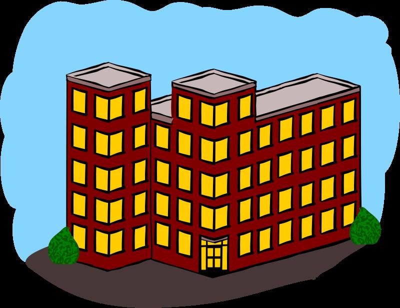 Free Apartment Building Clip Art