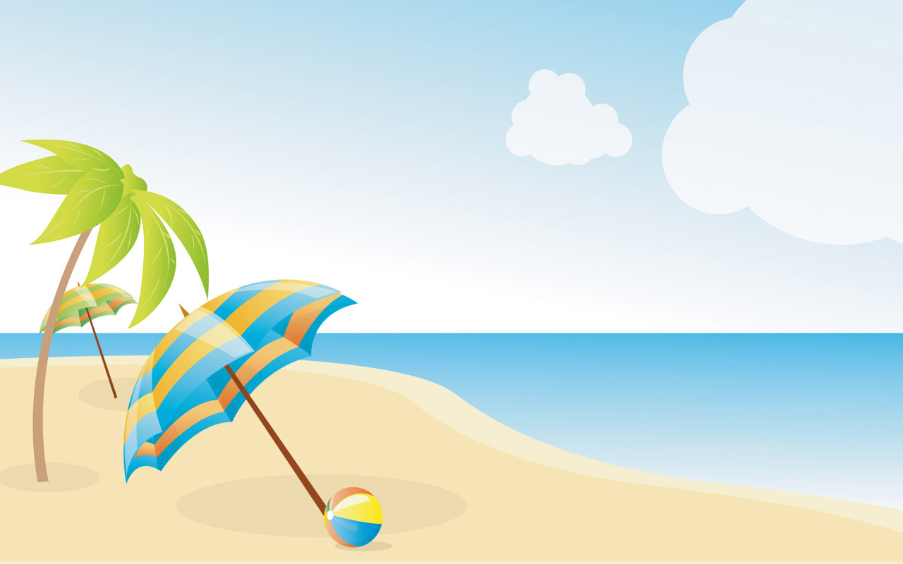 free beach clipart. Summer Beach Wallpapers X