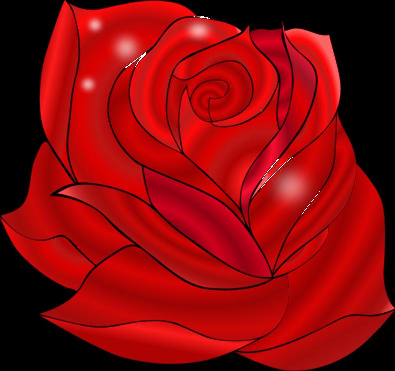 Free Beautiful Red Rose Clip Art