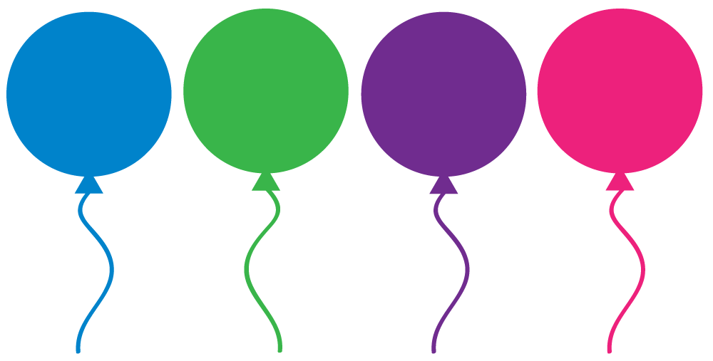 Free Birthday Balloons Clipart For Party Decor Websites Signs Or