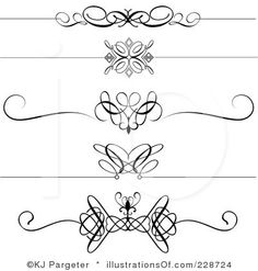 Free black Clip Art Borders and Frames weddings | Royalty-Free (RF) Borders
