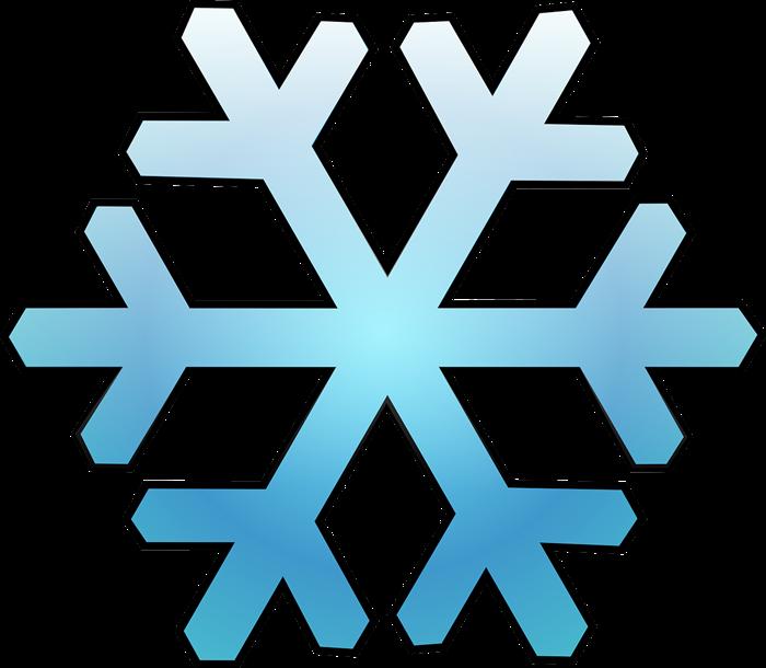 Free Blue Snowflake Clip Art