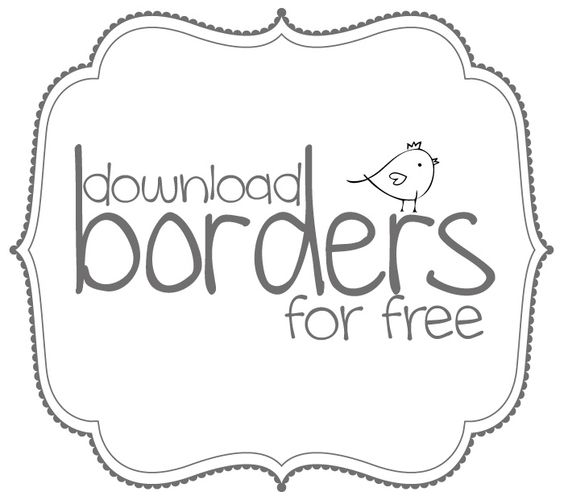 Love this border. Free Printa