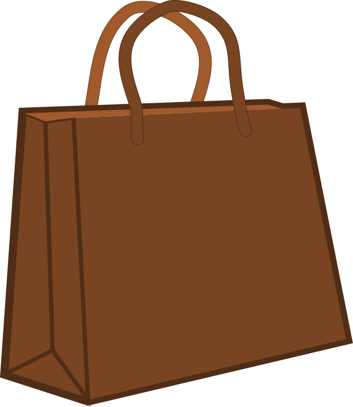 Free Brown Shopping Bag Clip Art