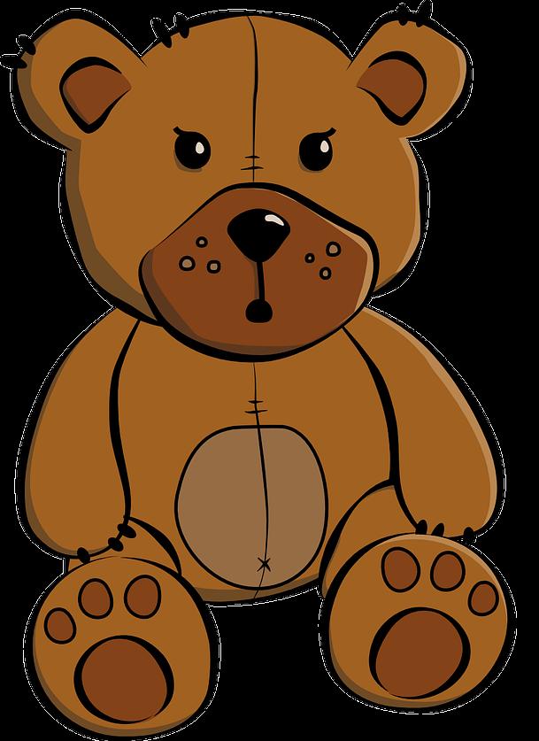 Free Brown Teddy Bear Clip Art
