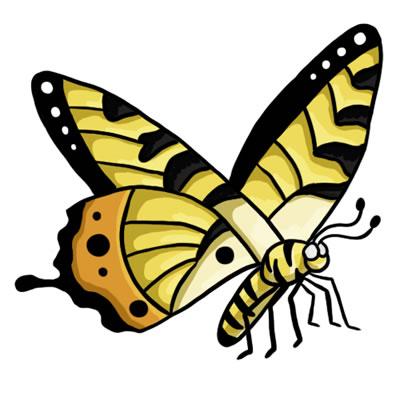 FREE Butterfly Clip Art 16