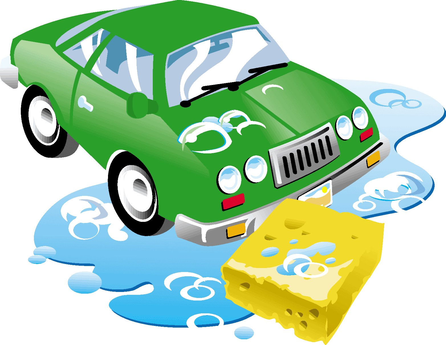 Free car wash clip art image