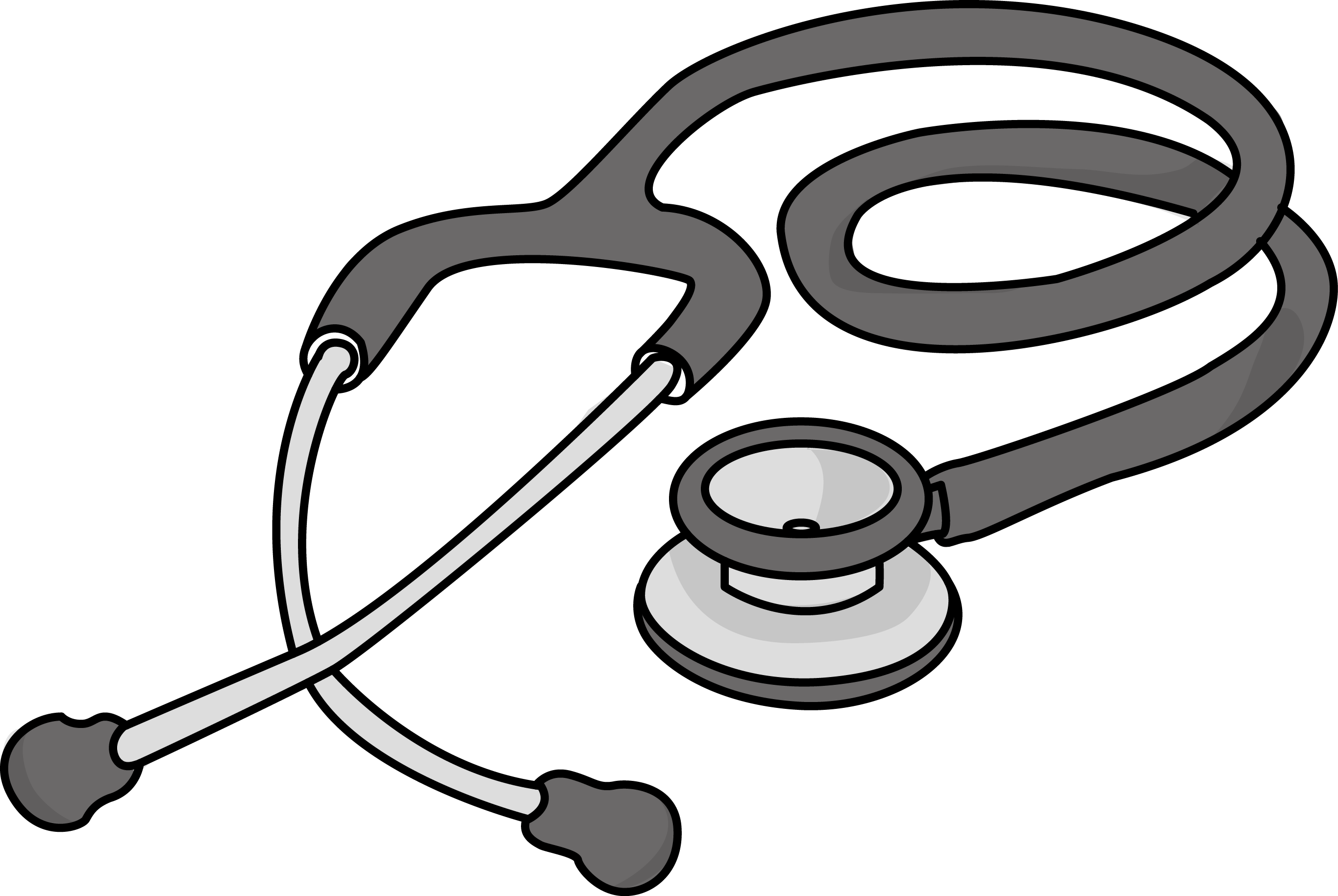 Free cardiology stethoscope health high resolution clip art all