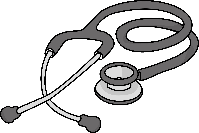 Free cardiology stethoscope health high resolution clip art all