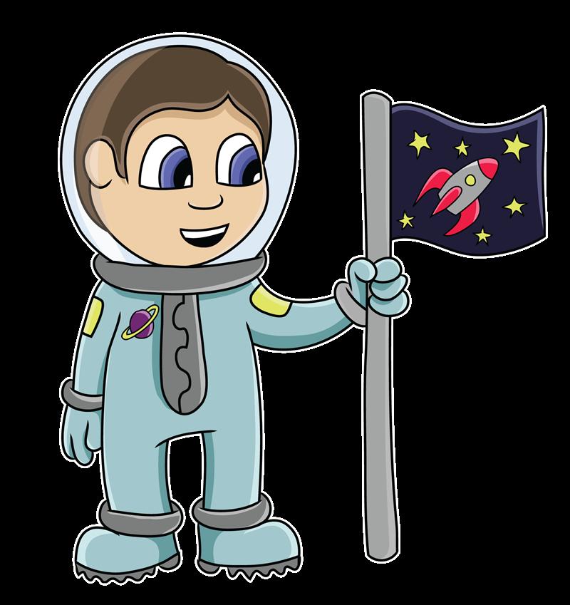 Free Cartoon Astronaut Clip Art