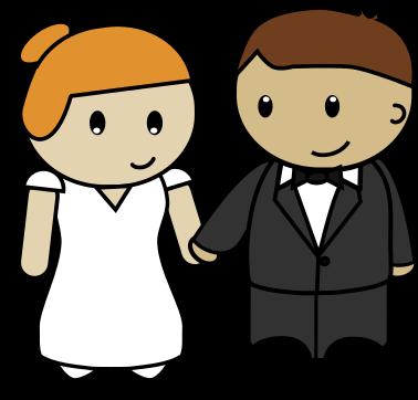 Free Cartoon Bride u0026amp; Groom Clip Art