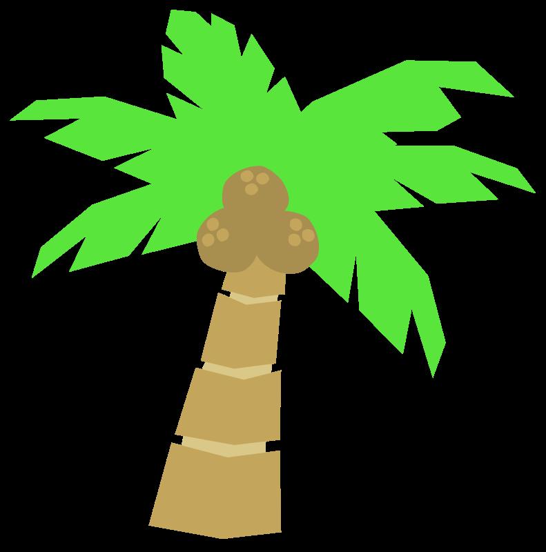 Free Cartoon Coconut Tree Clip Art