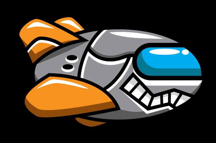 Free Cartoon Enemy Spaceship Clip Art