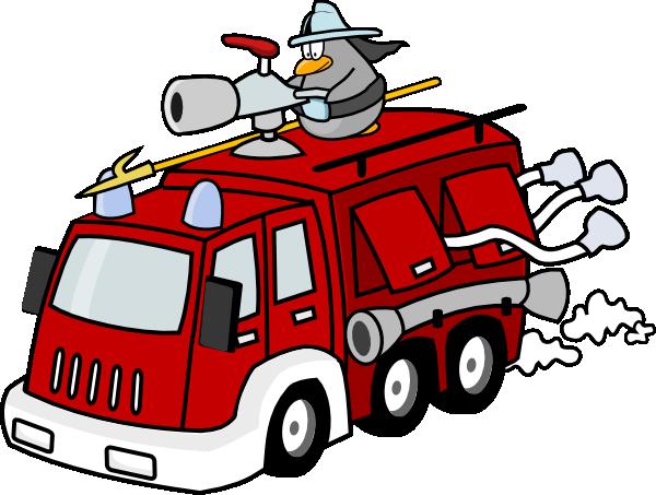 Free Cartoon Fire Truck Clip Art